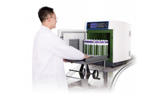 Carro fácil introducción de muestras