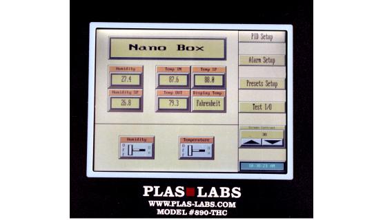 Caja de guantes con control de humedad y temperatura Mod 890-THC