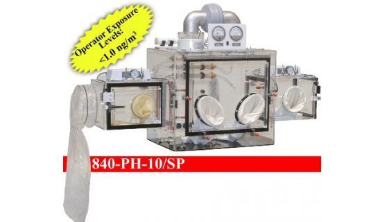 Caja de guantes para manipulación de polvos Mod 840 PH-10