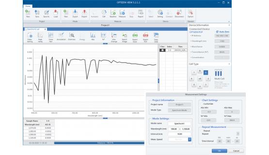 Software Espectrofotometría - OPTIZEN View
