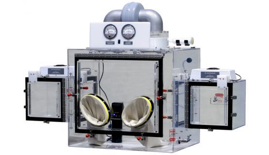 Caja de guantes para manipulación de polvos 840 PH-10