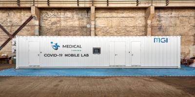 Laboratorio móvil de contención MGI title=