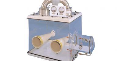 Caja de guantes con filtros HEPA, circuito cerrado. title=